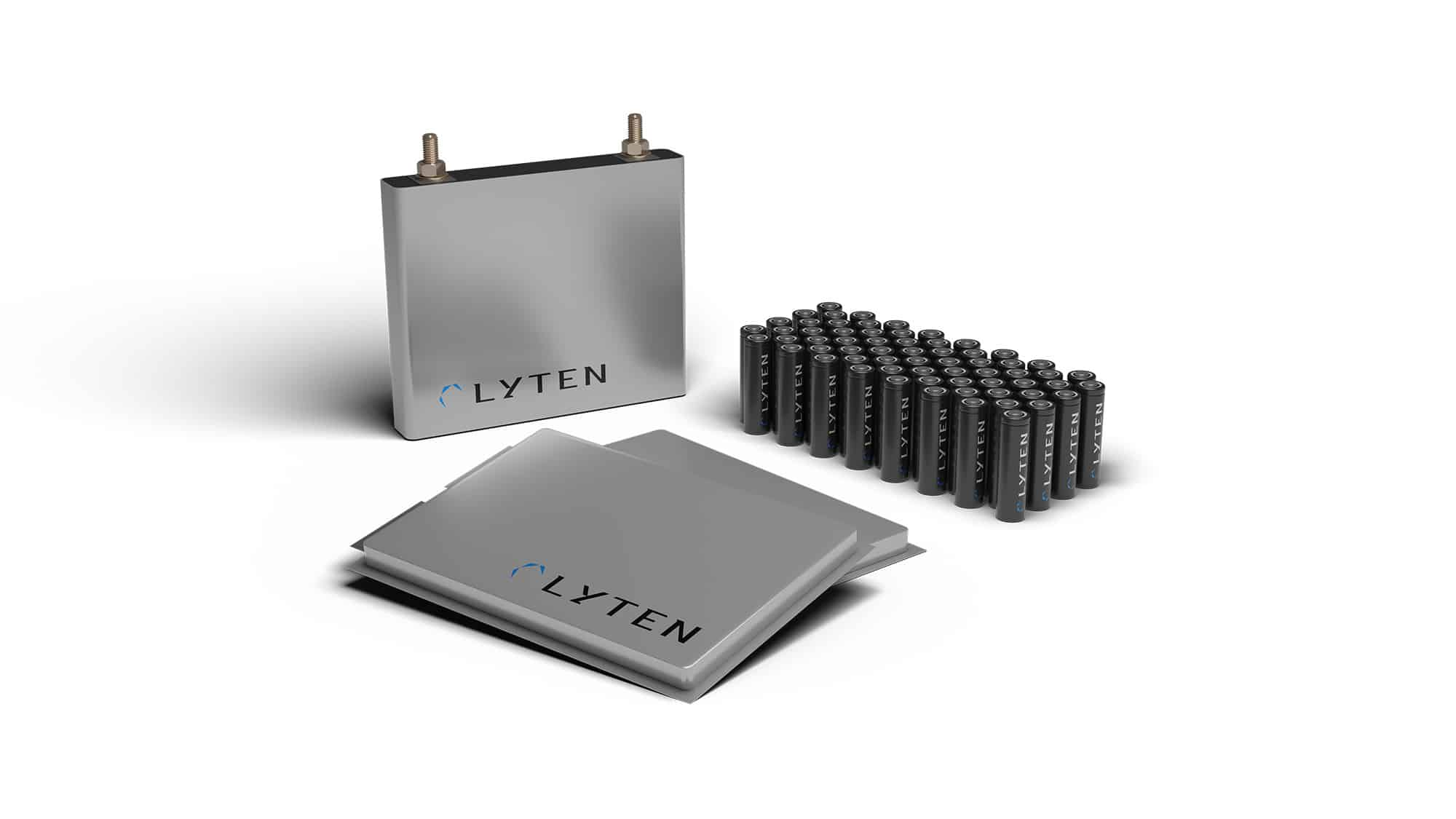 Lyten 18650 battery and pouch battery